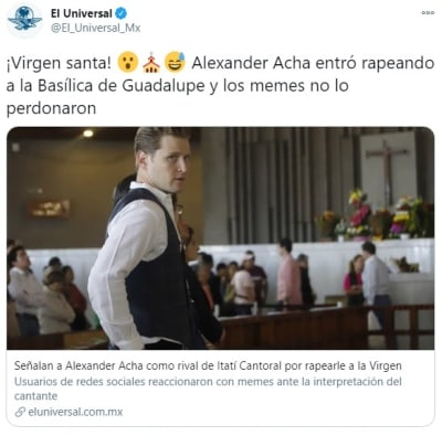 Alexander Acha rapear Virgen de Guadalupe 2