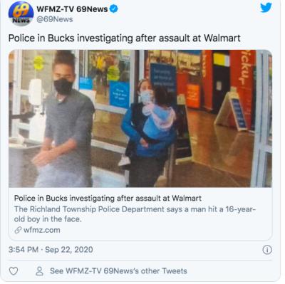 ataque niño Walmart Pensilvania