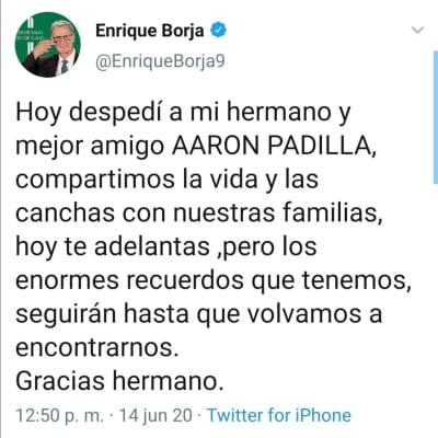 Muere exjugador Pumas coronavirus
