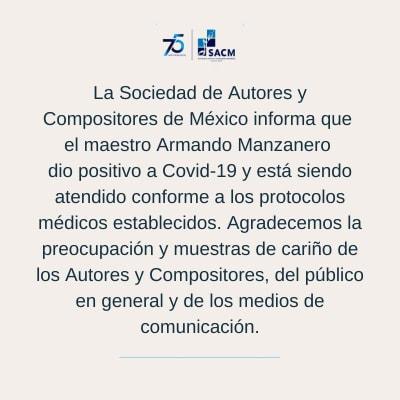 Armando Manzanero coronavirus