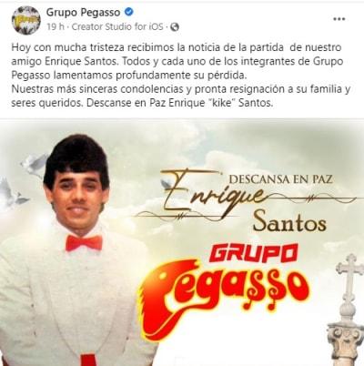 Muere Enrique Kike Santos, guitarrista del grupo Pegasso