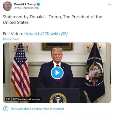 Trump discurso video, Donald Trump Estados Unidos,