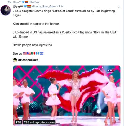 JLo envía contundente mensaje a Trump durante presentación del Super Bowl