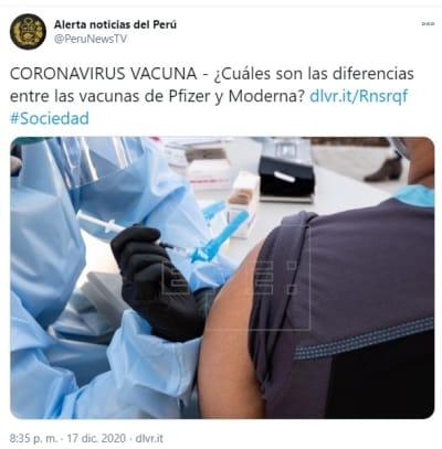 Vacunas Pfizer Moderna 1