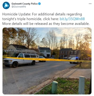 Asesinato tres hombres Georgia Lawrenceville Gwinnet