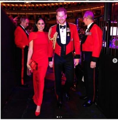 Vidente familia real británica príncipe Harry y su esposa Meghan Markle 2