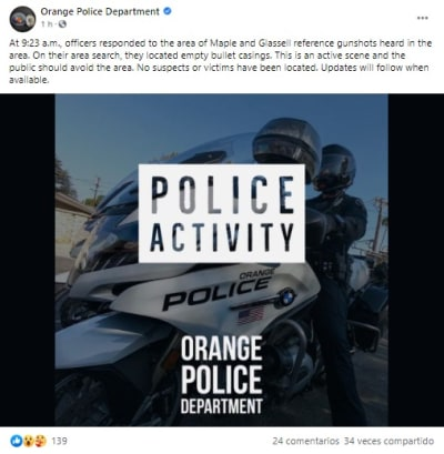 Reportan disparos en campus universitario en California