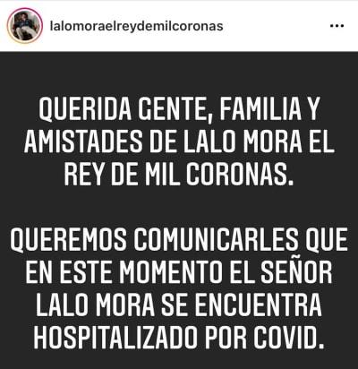 Lalo Mora meses antes se debatía entre la vida y la muerte por el COVID-19, ahora ofrece shows sin sana distancia y besa fanáticas