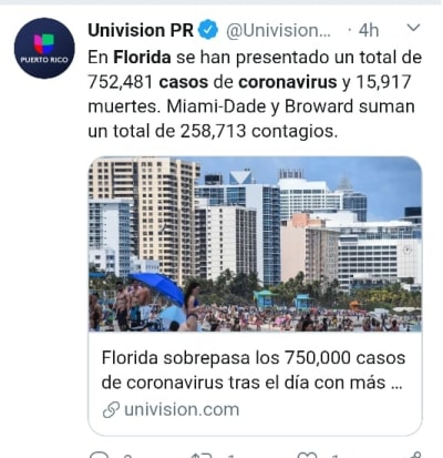 Florida casos coronavirus 1
