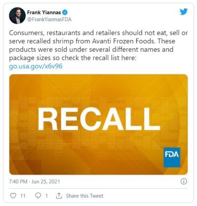 Retiran del mercado productos congelados