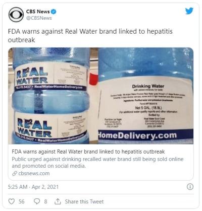 Retiran del mercado agua embotellada, se presume causaron casos de hepatitis