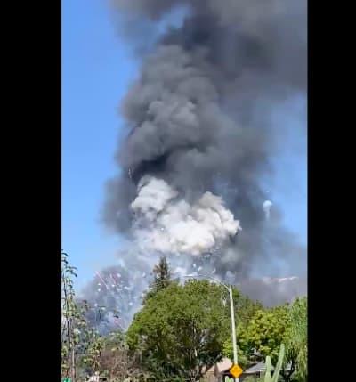 Fuegos artificiales California (Twitter)