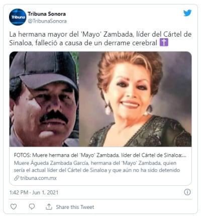 """Muere la hermana mayor de Ismael """"Mayo"""" Zambada"""
