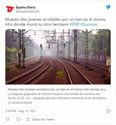 Hispanic siblings killed by train in separate incidents