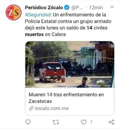 Enfrentamiento Zacatecas 2