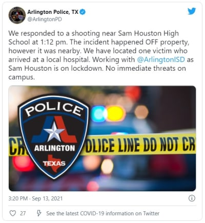 Three Texas schools close after shooting nearby