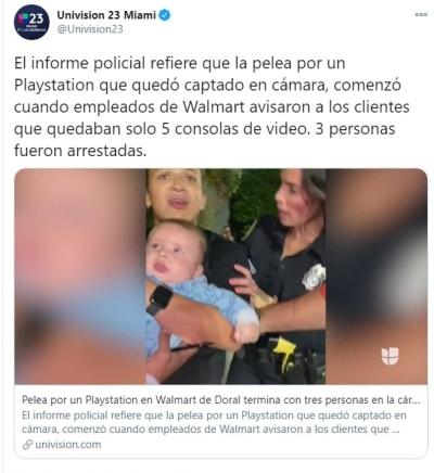 Pelea Walmart Florida Playstation 1