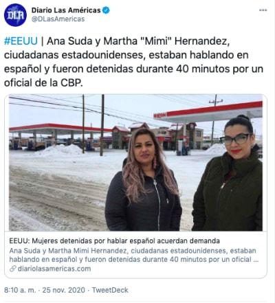 Mujeres arrestadas por cbp