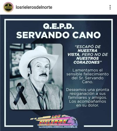 Luto en el mundo grupero tras la muerte del representante Servando Cano
