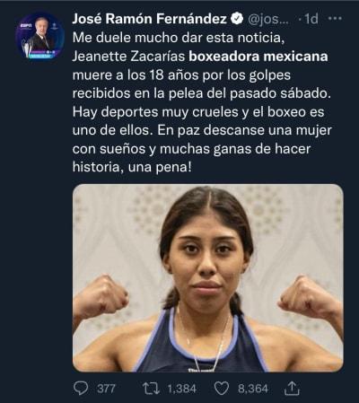 Se investiga la muerte de la boxeadora Jeanette Zacarías, quien falleció a los 18 años de edad