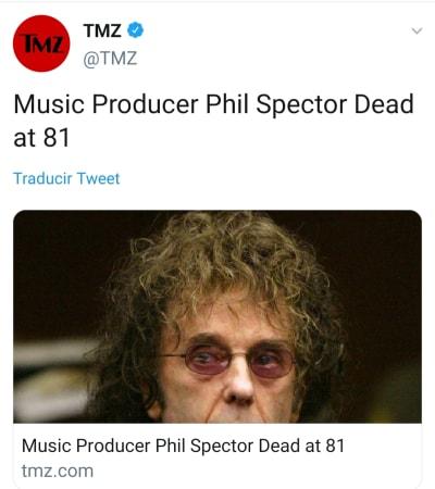Muere Phil Spector, productor de Los Beatles y John Lennon, por coronavirus