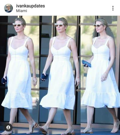 Ivanka Trump se deja ver con vestido blanco de pronunciado escote