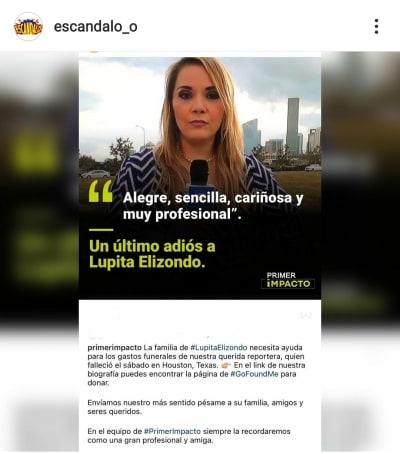 Critican a Univisión por no ayudar a pagar el funeral de Lupita Elizondo Primer Impacto