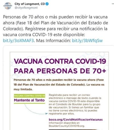 Colorado Indocumentados vacuna coronavirus 2