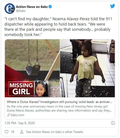 Nueva Jersey: ICE pide ayuda a inmigrantes para hallar a niña latina desaparecida