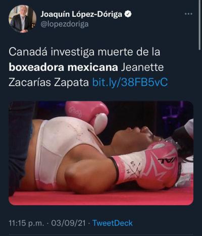 Muere boxeadora a los 18 años de edad