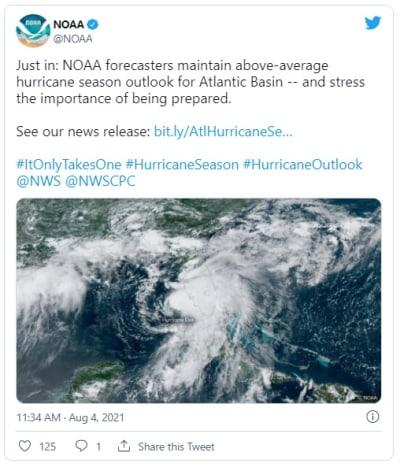 Se mantiene pronóstico de activa temporada de huracanes en el Atlántico