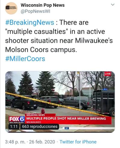 Tiroteo Wisconsin Milwaukee