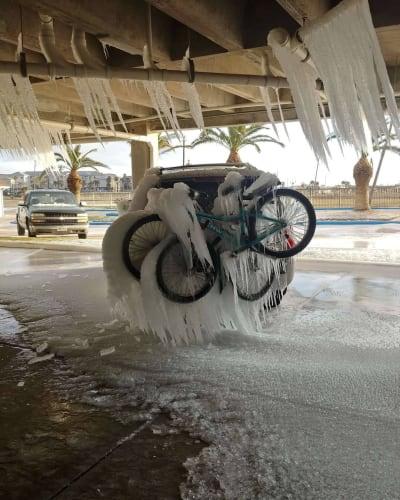 Autos Congelados Texas, Tormenta Invernal
