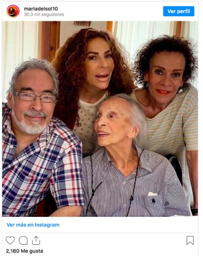 María del Sol luto, Josefina Echánove, Peggy Echánove muerte (Instagram)