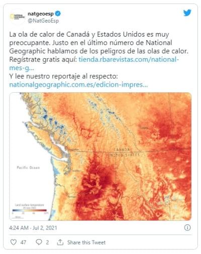 Ola de calor sigue generando temperaturas extremas en Canadá