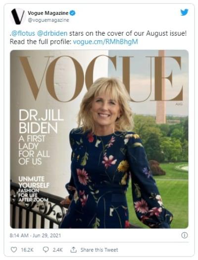 ¡Golpe a Melania Trump! Jill Biden sale en la portada de la revista 'Vogue'