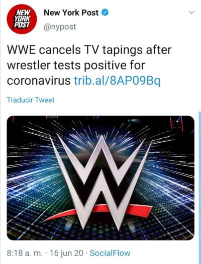 Luchador WWE coronavirus