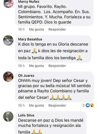 Rayito Colombiano de luto