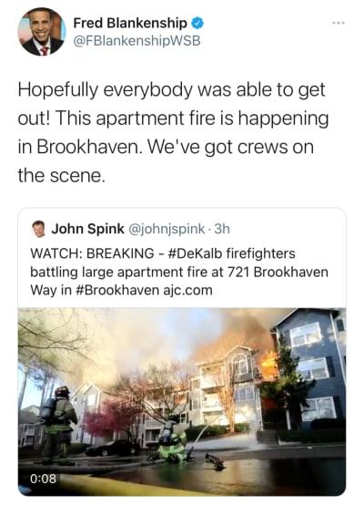 Incendio masivo en complejo de apartamentos de Brookhaven