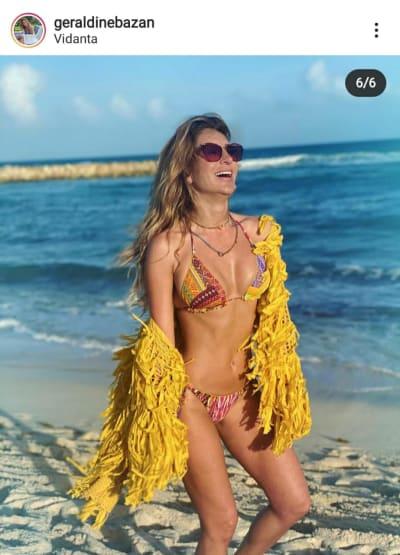 Geraldine Bazán posa en bikini después de la reaparición de Gabriel Soto con Irina Baeva