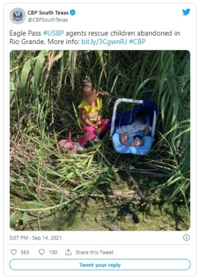 3-month-old baby and 2-year-old sister abandoned in Rio Grande