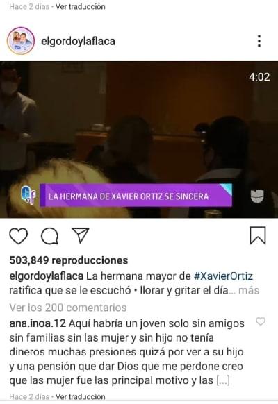 Xavier Ortiz muerte