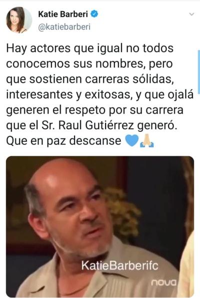 Muere el actor colombiano Raúl Gutiérrez a los 64 años de edad