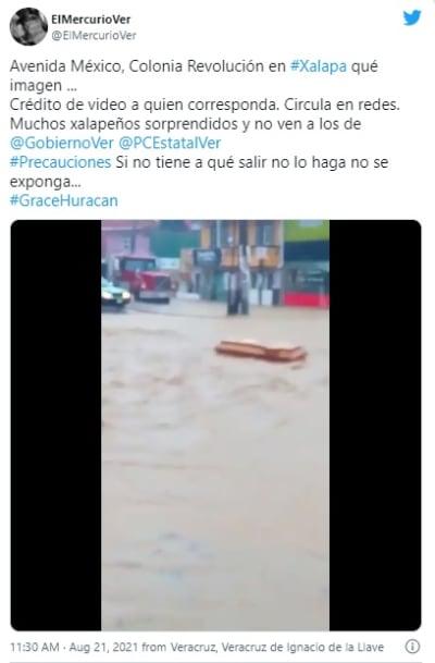 Devastador paso de la tormenta Grace por México: Ataúdes aparecen flotando a la deriva (VIDEO)
