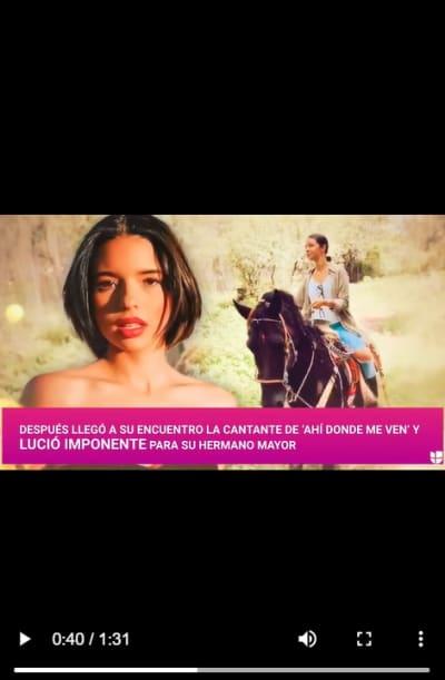 Ángela Aguilar intimida a su hermano Leonardo Aguilar a caballo