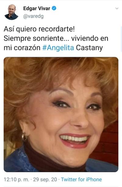 Reportan fallecimiento de actriz mexicana que estuvo casada con Chabelo Angelita Castany