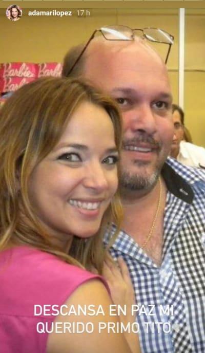 Adamari López está de luto por la muerte de su primo Tito