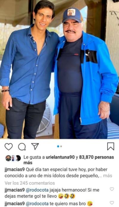 Tras festejar cumpleaños de su novia, Vicente Fernández Jr está de luto Mariana González Padilla