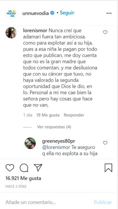¡La critican! Adamari López