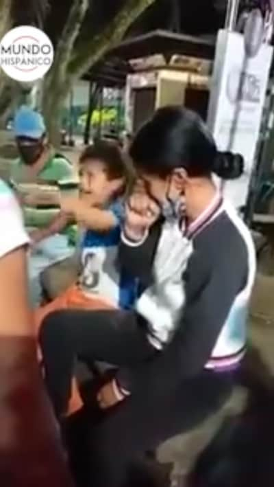Video of children beating their mother causes outrage on social media